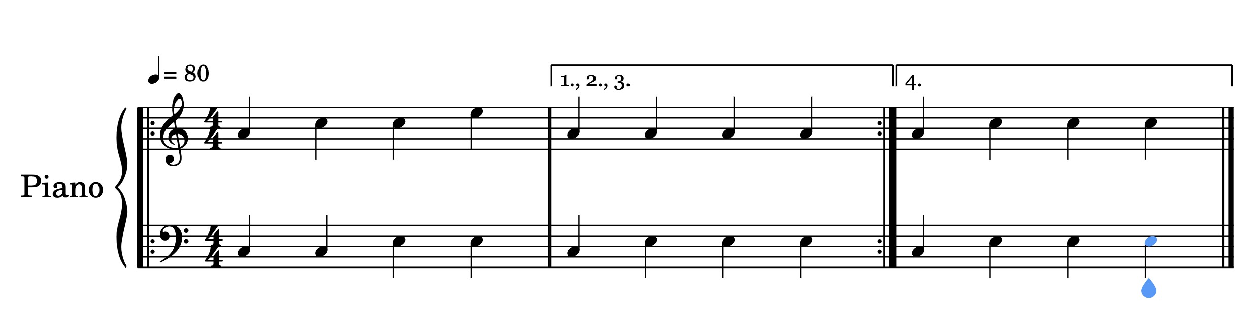 1st and 2nd time bars - Extending and Repeating Music - Jason Yang Pianist